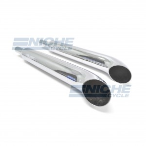 Kawasaki KZ1000 Slip On Motorcycle Mufflers Turnout Chrome  002-0510