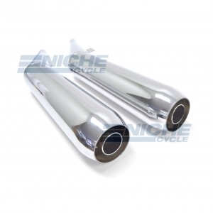 BMW R65 Whispertone Motorcycle Mufflers Reverse Cone Chrome  006-0213