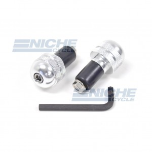Bar Ends Alum -  Knurled Silver 23-96462