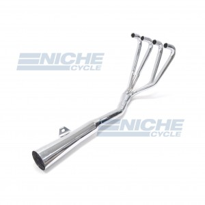 Honda CB500/4 CB550 MAC 4-Into-1 Chrome Megaphone Exhaust System 001-0601