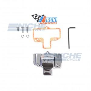 Mikuni HSR42/45 Chrome Carburetor Cap with Logo KHS-029