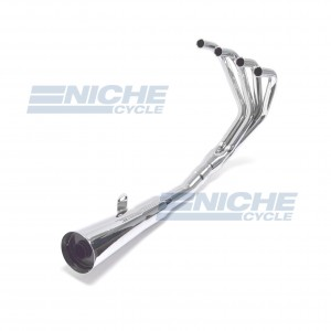 Honda CB350/4 Four MAC 4-Into-1 Chrome Megaphone Exhaust System 001-0401
