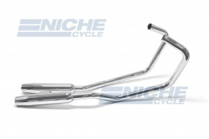 Honda Rebel CMX250 Staggered 2-Into-2 Chrome Taper Exhaust System 001-1221