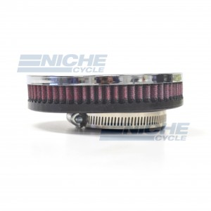 Pancake Filter Chrome 58mm RED RC-305-01
