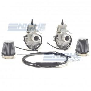Honda CB350/CL350/CB360 Mikuni TM28 28mm Flat Slide Carburetor Kit NCS246