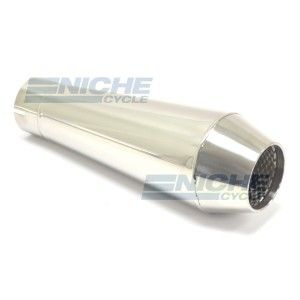 "Reverse Cone 12"" - Stainless Steel 2.5"" Inlet ID - Polished NCS-2500-12-PS"