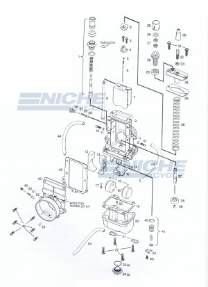 Mikuni VM28-418 Exploded View - Replacement Parts Listing VM28-418_parts_list