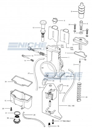 Mikuni TM38-27 Exploded View - Replacement Parts Listing TM38-27_parts_list