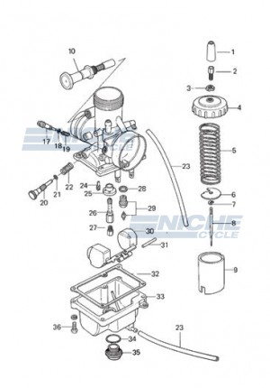 Mikuni VM26-606 Exploded View - Replacement Parts Listing VM26-606_parts_list