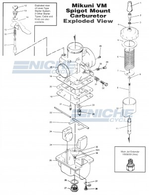 Mikuni VM34-168 Exploded View - Replacement Parts Listing VM34-168_parts_list
