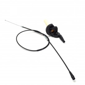 Quick Action Throttle Assembly With Cable - Black