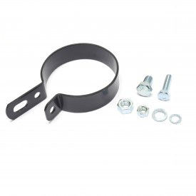 """Chrome 2.5/"""" Muffler Center Clamp with Integrated Hanger Mount"""