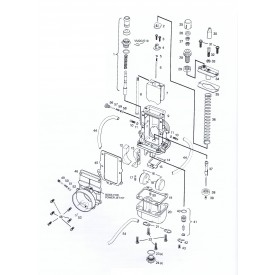 Mikuni VM28-418 Exploded View - Replacement Parts Listing