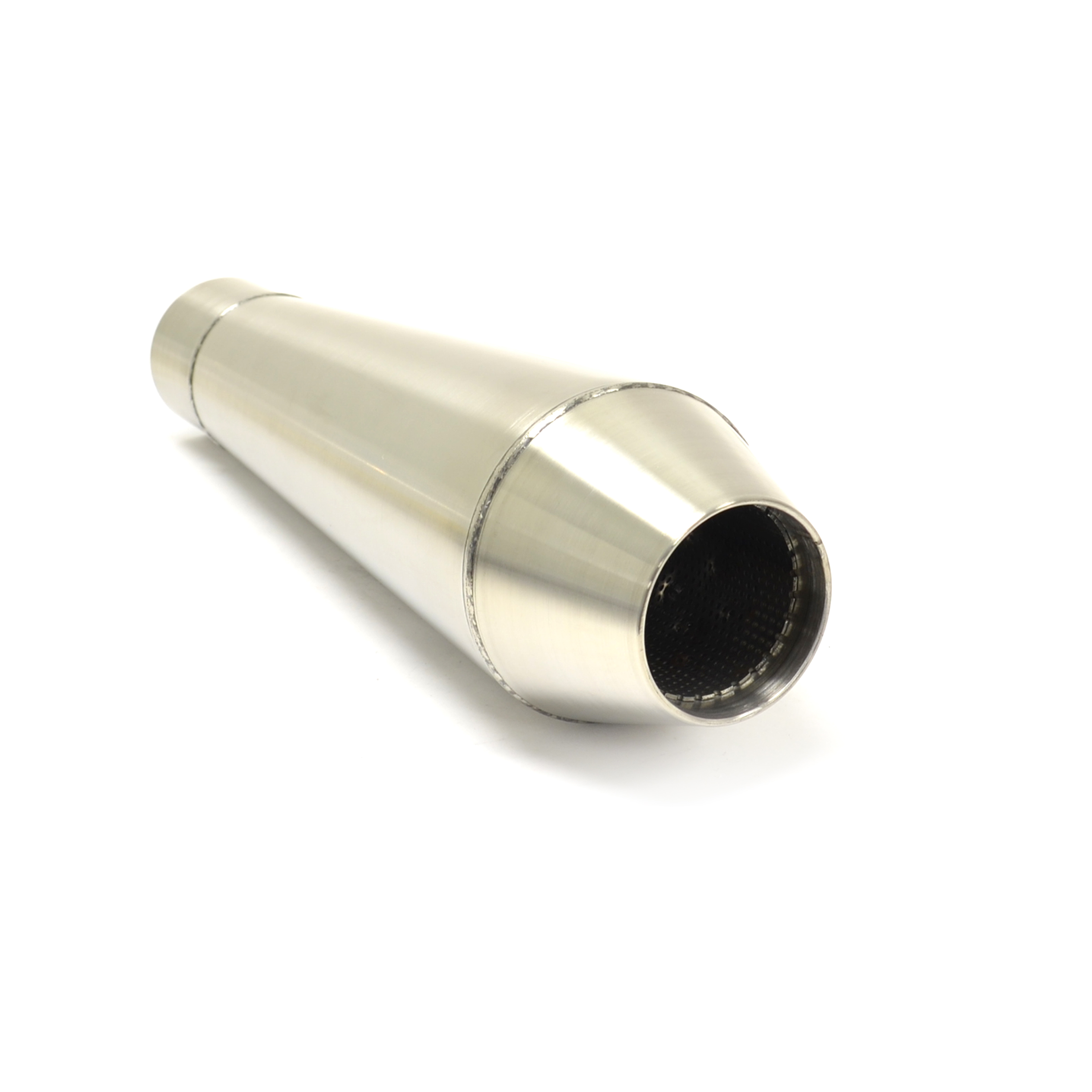 Quot performance steel core muffler shorty reverse cone