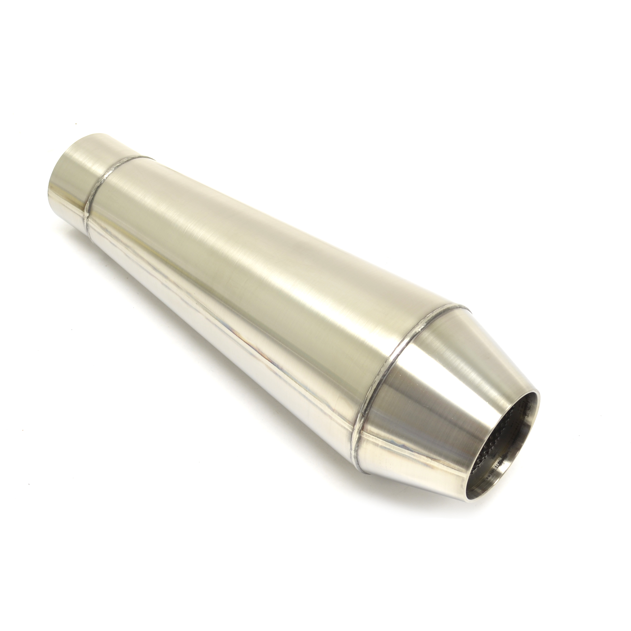 Quot performance steel core muffler reverse cone