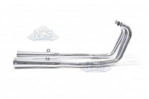 Honda CB750 K 69-76 4-2 Chrome Exhaust System w/ Megaphone Mufflers 001-1309