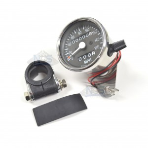 Mini Speedometer Gauge w/Bar Clamp 160 MPH - 2.1:1 Ratio 58-43667