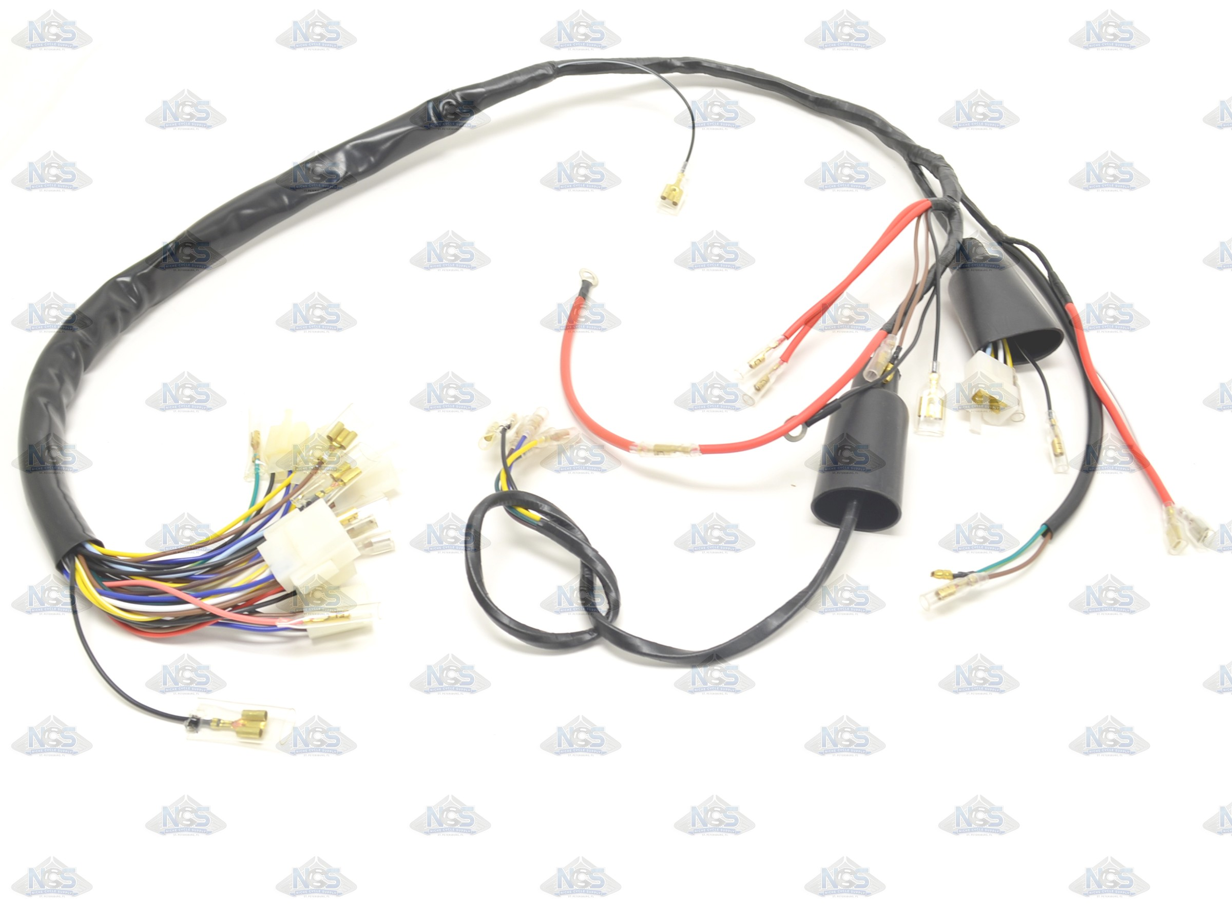 yamaha wiring harness wire colors yamaha xt500 1977 wire harness