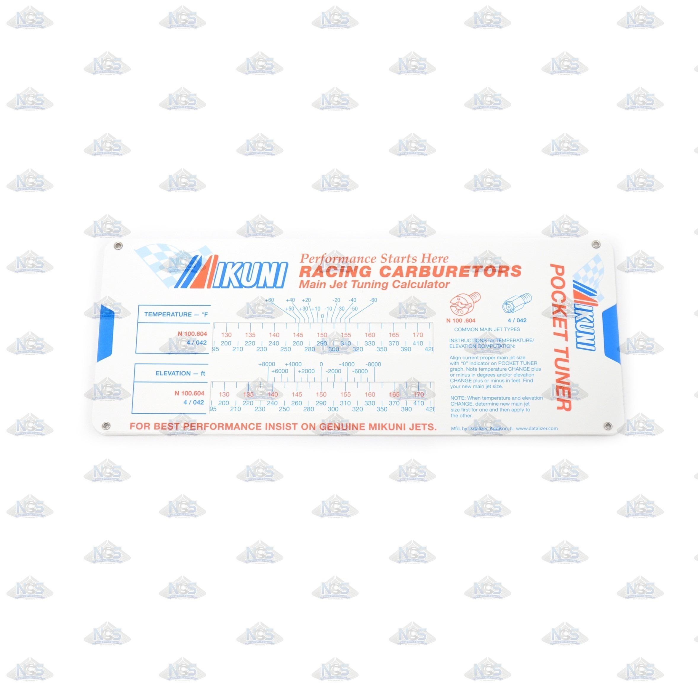 Mikuni Pocket Tuner Temperature Elevation - Find your elevation