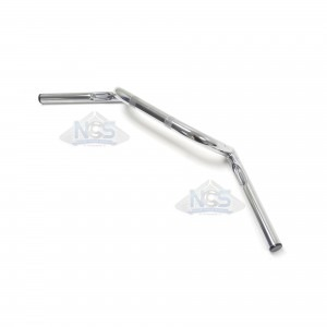"Handlebar - 1"" Clubman Chrome- Dimpled 07-12558"