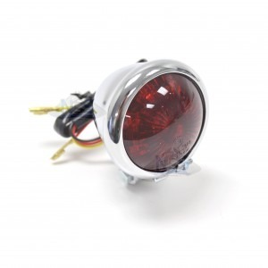 Bates Style Taillight Chrome 62-21519