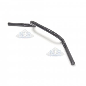 "Handlebar - 1"" Reverse Z-Bar Type Black - Dimpled 07-12559"