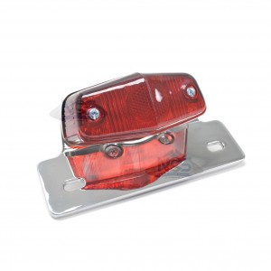 Classic Lucas-Style Replica Chrome 12-Volt Taillight  62-21521