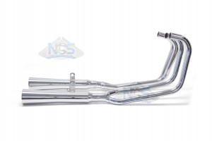 Honda CB750 77-78 4-2 Chrome Exhaust System w/ Megaphone Mufflers 001-1509
