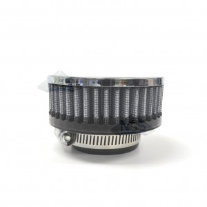 "Universal, Chrome-Faced, Air Filter, 1-3/4"" (45mm) Inlet RC-17"