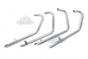 Honda CB750 K 69-76 Chrome TT Drag Pipe Exhaust System 001-1306
