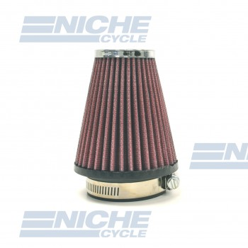 """Universal Motorcycle High Performance Tapered Air Filter 2-1/4"""""""" Inlet RC-1250-01"""