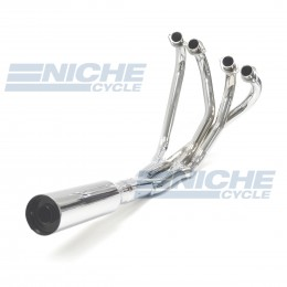 Honda CB750/900/1100 TRY-Y 4-Into-2-to-1 Chrome Megaphone Exhaust System 001-0104