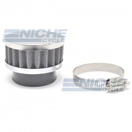 Compact 43mm Chrome End Cap Air Filter 12-50343