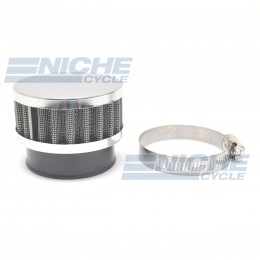 52mm Chrome End Cap Air Filter 12-50352