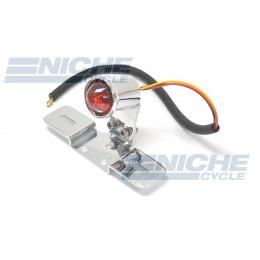 Custom Round Taillight Mounting Bracket License  - Chrome 62-21515