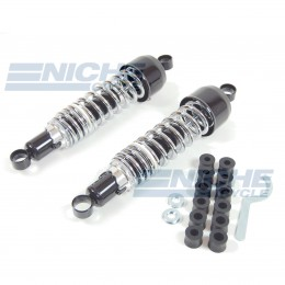 Vintage Japanese Rear Shock Set Black/Chrome 17-05572