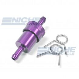 "Fuel Filter- Inline CNC Purple 5/16"" 14-34433"