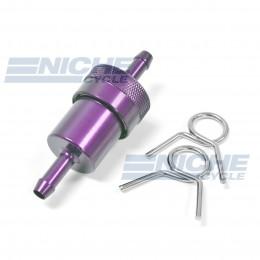 "Fuel Filter- Inline CNC Purple 1/4"" 14-34473"