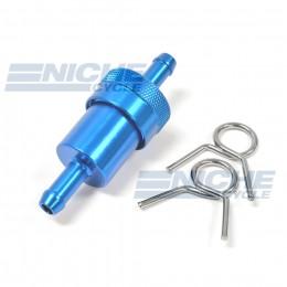 "Fuel Filter- Inline CNC Blue 5/16"" 14-34431"