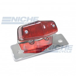 Classic Lucas-Style Replica Chrome 12-Volt Taillight  62-21521