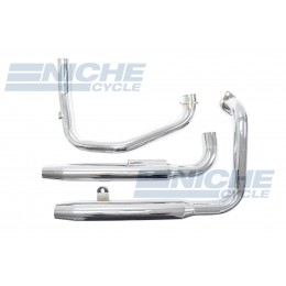 Honda Shadow VT700 VT800 Staggered 2-Into-2 Chrome Taper Exhaust System 001-3821