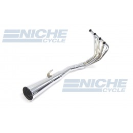 Honda CB400F 75-77 MAC 4-Into-1 Chrome Megaphone Exhaust System 001-0501