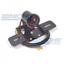 Vintage Round Articulating Taillight  - Black w/Glass 62-21518G