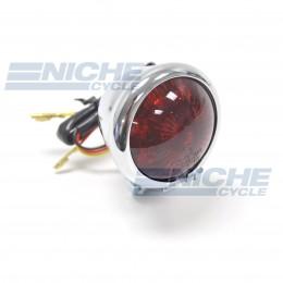 Bates Style Taillight Chrome 62-21519