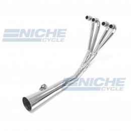 Kawasaki KZ650 KZ750 GPZ MAC 4-Into-1 Chrome Megaphone Exhaust System 002-0301