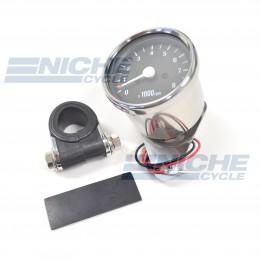 """Polished 2.5"""" Mini Tachometers with Handlebar Clamp 58-4367X"""