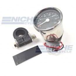 Mini Speedometer Gauge w/Bar Clamp 140 MPH - 1:1 Ratio 58-43671