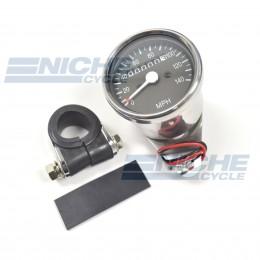 Mini Speedometer Gauge 140 MPH - 2:1 Ratio 58-43672