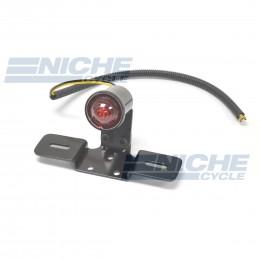 Custom Round Taillight  Mounting Bracket License- Black 62-21515B