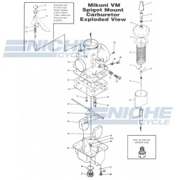 Mikuni VM28-49 Exploded View - Replacement Parts Listing VM28-49_parts_list